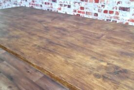 Rustic Farmhouse Reclaimed Pine Kitchen Dining Table... Free Delivery - All Sizes Available