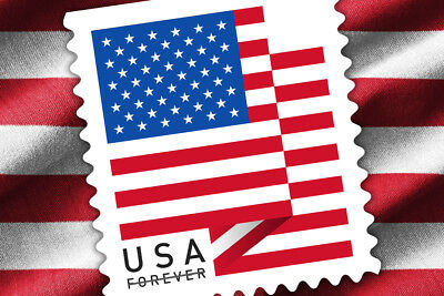 1 Coil / 100 Stamps USPS Forever 1st Class Postage US Flag 2018 - Sealed Roll