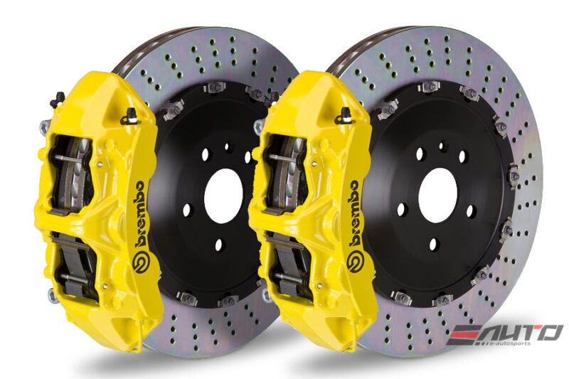 Brembo Front Gt Brake Bbk 6piston Yellow 405x34 Drill Disc Bmw E60 M5 E63 E64 M6