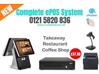 Complete Point of Sale system, all in one, twin screen touch system, brand new
