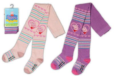 Peepa pig Strumpfhose 92/98 104/110 116/122 Schwein~Mädchen gestreift lila rosa ()