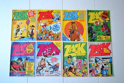 8 ZACK HEFTE Jahrgang 1973, 1976, 1977, 1979  HEFT 1, 38, 39, 46, 52