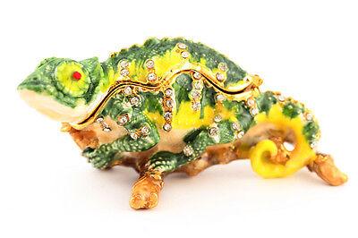 (Chameleon Jewelry Trinket Box Decorative Animal Cute Gift Lizard Retile 02029)