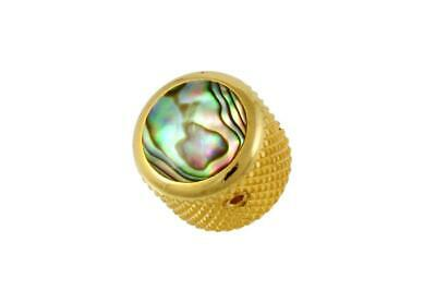 Gold Q-Parts Natural Abalone Dome Knob