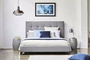 As NEW Upholstered Double Bed and Mattress Hamersley Stirling Area Preview