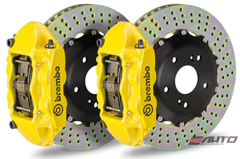 Brembo Front Gt Brake Bbk 4pot Yellow 345x28 Drill Disc For Mini Cooper F55 F56