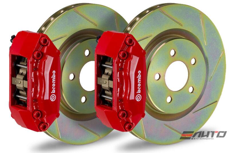 Brembo Front Gt Big Brake Bbk 4piston Red 330x28 Slot Disc Bmw E30 M3 87-91