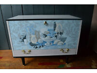 Vintage Formica drinks cabinet cocktail cabinet danish style g-plan style