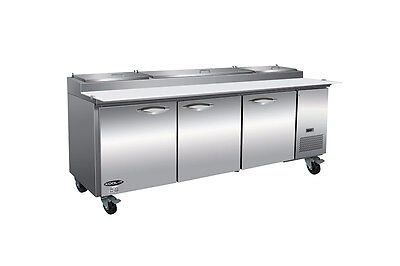 Ikon Ikon Kpp93 94 Pizza Prep Table Refrigerator Cooler Pans Included 3 Door