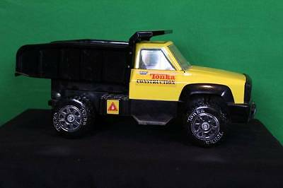 Tonka One Ton Dump Truck Collectible Toy Yellow Black Construction Pick Up