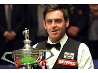 2018 Bet Fred World Snooker Championship Tickets Great Seats, Many Front Row Crucible Theatre LOOK!