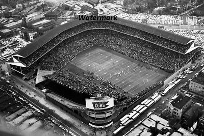 Chicago Bears Wrigley Field (NFL 1962 Aerial View Wrigley Field Chicago Bears Picture 8 X 12 Photo Free)