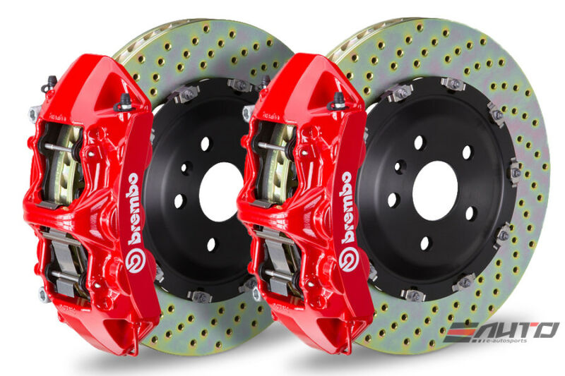 Brembo Front Gt Bbk Brake 6pot Red 365x34 Drill Disc For Benz Cla45 A45 Gla45