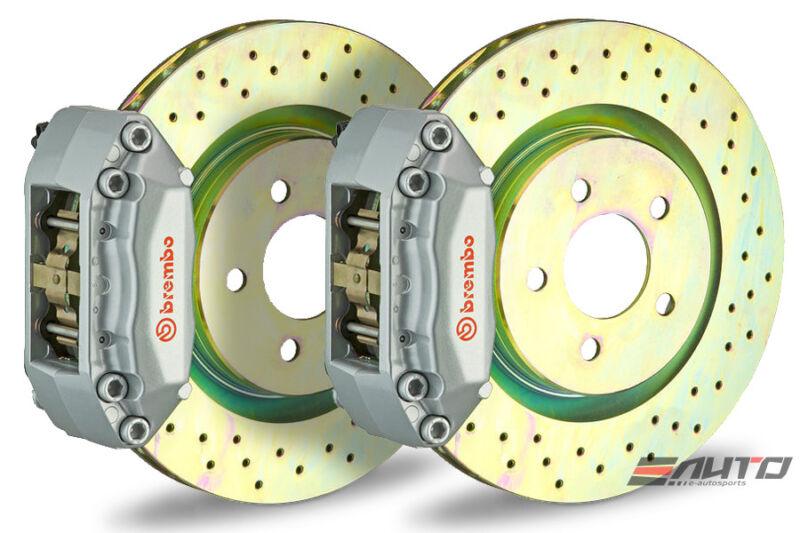 Brembo Front Gt Bbk Brake 4p Caliper Silver 330x28 Drill Disc Mazda 3 Bk3p 05-13