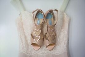 Charlotte mills blonde rose gold shoes