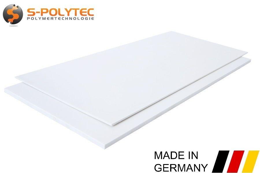 ABS Kunststoff Platte Platten Weiß 1000x490mm in Stärken 1-10mm TOP Qualität