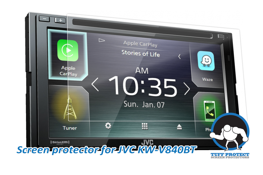 Tuff Protect Clear Screen Protectors For JVC KW-V840BT 6.8""