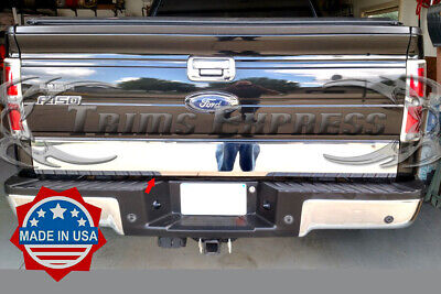 2009-2014 Ford F-150 Tailgate Molding Trim Accent Door Cover Rear Stainless 1Pc