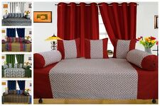 Diwan Set-(Pack of 6 or 8 Pcs) with 2 -Window curtain