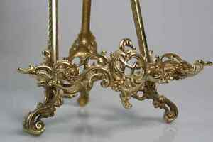 """21"""" LARGE SOLID BRASS PRESENTATION EASEL - NEW IN BOX"""