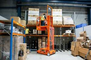 Manlift 3.7M (12FT) Self Propelled – Stock Picker Rental $136.36 Springvale Greater Dandenong Preview