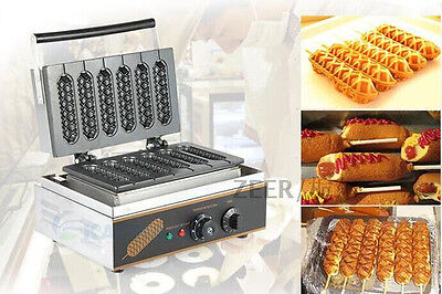 Ce Commercial Electric Muffin French Hot Dog Making Machine Waffle Machine