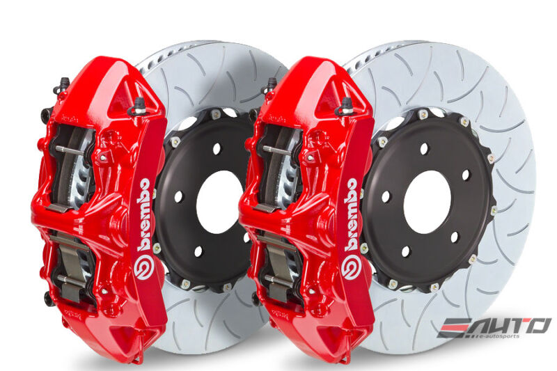 Brembo Front Gt Brake 6pot Caliper Red 350x34 Type3 Slot Disc Golf R Mkvi 12-13