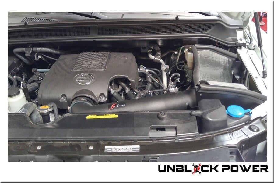 BLACK AIR INTAKE KIT fit 04-15 NISSAN ARMADA PATHFINDER TITAN INFINITI QX56 5.6L