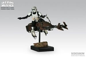 Sideshow Speeder Bike and Scout Trooper