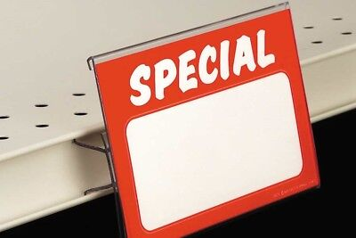 Sign Holders-print Protectors Gondola Price Channel Sign Holders-5.5 X 3.5-10pcs