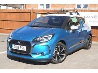 CITROEN DS3 1.2 PureTech (110ps) Prestige (s/s) EAT6 Auto (belle ile blue metallic two tone) 2016