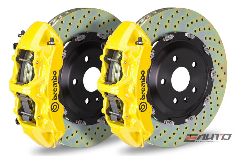 Brembo Front Gt Big Brake Bbk 6pot Caliper Yellow 380x34 Drill Bmw F80 M3 F82 M4