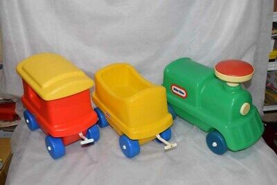 Vintage Little Tikes Tykes Chugga Choo Choo Train Complete Working Whistle GUC Little Tikes Train