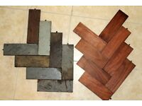 Antique wooden floor blocks, Parquet flooring, re claimed, approx 42 sq yards, great quality.
