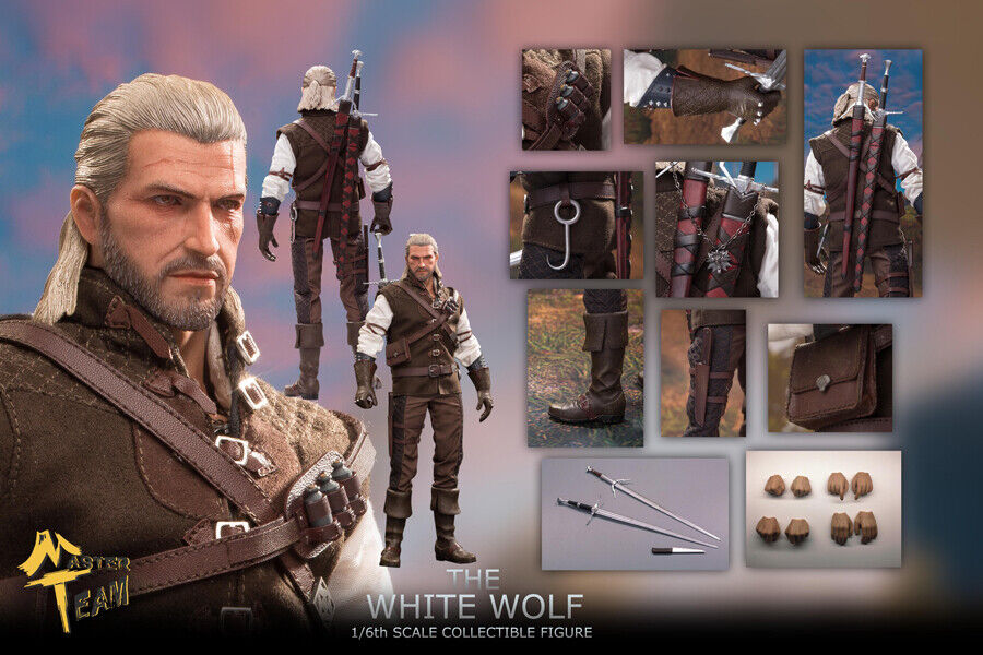 MTTOYS 1//6 Scale The White Wolf Geralt of Rivia Witcher Male Action Figure Toys