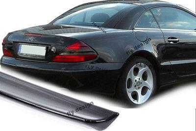 Mercedes R230 Spoiler Aileron Becquet Alettone Trunklid PAINT Obsidian BLACK set