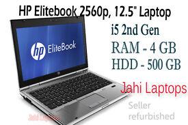 "HP Elitebook 2560p/ 12.5""/i5 2nd Gen/ 4GB RAM /500GB HDD /Win7"