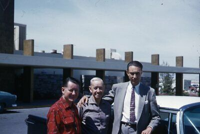 1950s Mens Suits & Sport Coats   50s Suits & Blazers Kodak 35mm Slide 1950s Red Border Kodachrome Man in Suit 2 in Shirts Parking Lot $22.99 AT vintagedancer.com