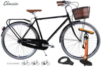 Vintage | 'Classic' | 3 Speed with Basket, Lock, Pump & Delivery Adelaide CBD Adelaide City Preview