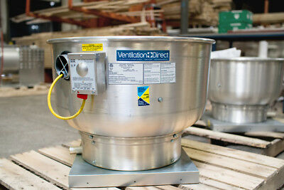 Commercial Restaurant Kitchen Exhaust Fan - 1500-2250 Cfm With Speed Control