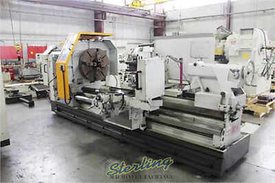 3552 X 100 Used Eisen Heavy Duty Hollow Spindle Gap Bed Engine Lathe With D