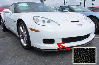 (C6 Corvette 2006-2013 Z06/Grand Sport/ZR1 Fog Light Grille Screens - Black)