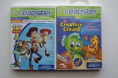 Leap Frog Leapster Learning Games Lot #1 Toy Story 3 & Creature Create