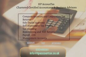 Company Accounts, Bookkeeping , VAT, Self Assessment tax returns