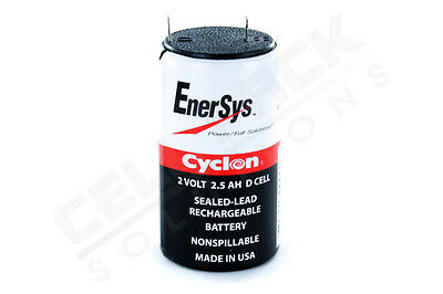 Enersys Cyclon 2V 2 5Ah D Cell 0810 0004 Sla Battery  Monitor Battery