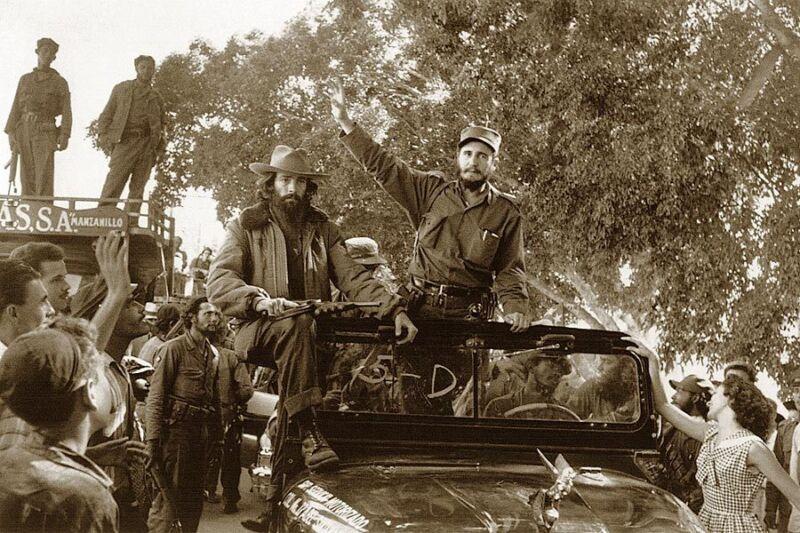 CAMILO CIENFUEGOS & FIDEL CASTRO IN HAVANA 8x12 SILVER HALIDE PHOTO PRINT