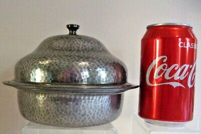 W and Co. English Pewter, Homeland 7544, Muffin Warmer, Arts and Crafts era