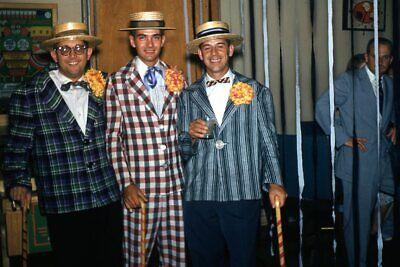 1950s Mens Suits & Sport Coats   50s Suits & Blazers Kodak Slide 1950s Red Border Kodachrome Men in Plaid Striped Suits Barbershop $23.99 AT vintagedancer.com