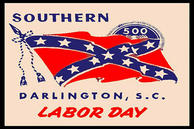 The Southern 500 Darlington SC Labor Day Fridge Magnet