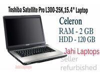 "Toshiba Satellite Pro L300-25K,15.4"" Laptop,Celeron,2GB,120GB HDD Win Vista 0412"